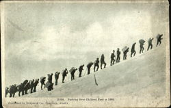 Packing over Chilkoot Pass in 1898 Postcard
