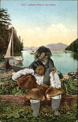 Eskimo Woman And Child