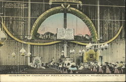 Interior Of Church Postcard