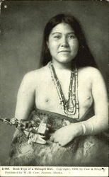 Nude Tlingit  Good Type Of A Thlinget Girl Postcard