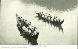 Native Canoe Race Postcard
