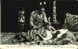 Indian Witch Doctor Visiting Patient Postcard