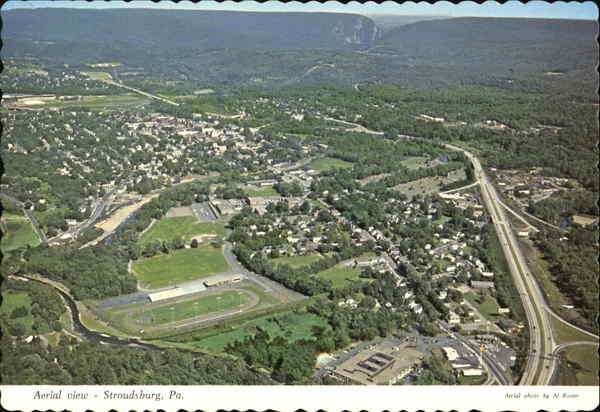 Aerial View Of Stroudsburg Pennsylvania