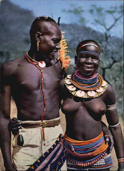 Happy Young African (Meru) Couple Kenya
