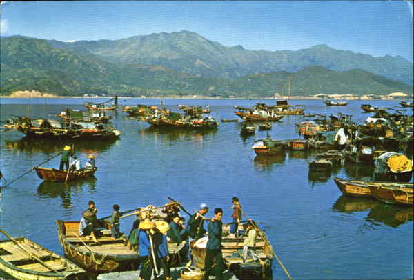 Fishing Boats With Their Owners Moored And Stationed At Aberdeen Harbour Hong Kong