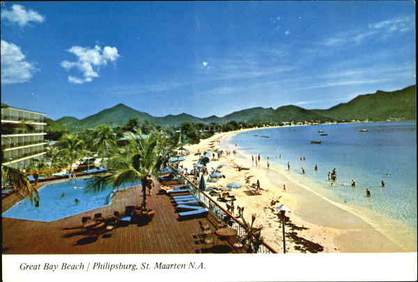 Great Bay Beach Philipsburg St. Maarten N.A Caribbean Islands