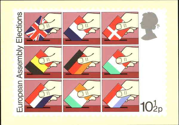 Direct Elections To The European Assembly England First Day Issue Cards