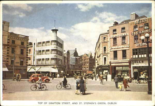 Top Of Grafton Street And St. Stephen's Green Dublin Ireland