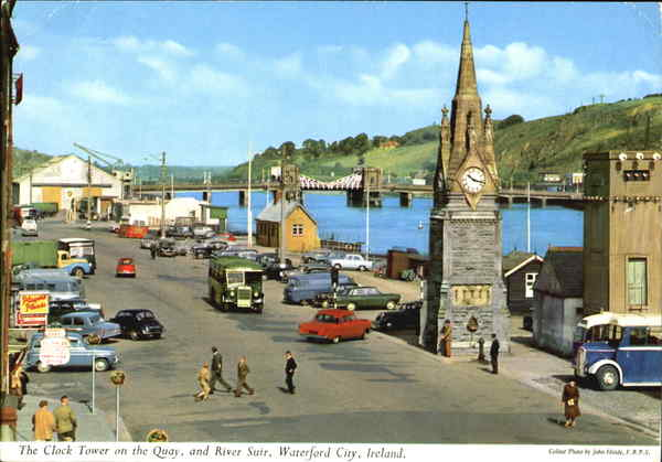 The Clock Tower In The Quay And River Suir Waterford City Ireland