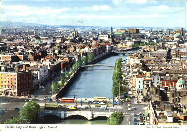 Dublin City And River Liffey Ireland