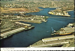 Aerial View Of Los Angeles Harbor Postcard
