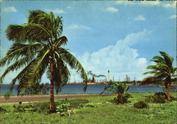 Lago Beach With Oil Refinery Postcard