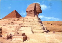 Giza - The Sphinx And The Pyramids Postcard