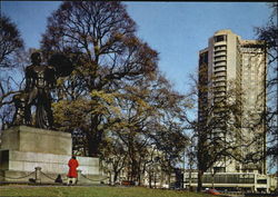 Achilles Statue And The Hilton Hotel, Hyde Park Postcard