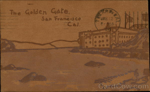 The Golden Gate San Francisco California Leather