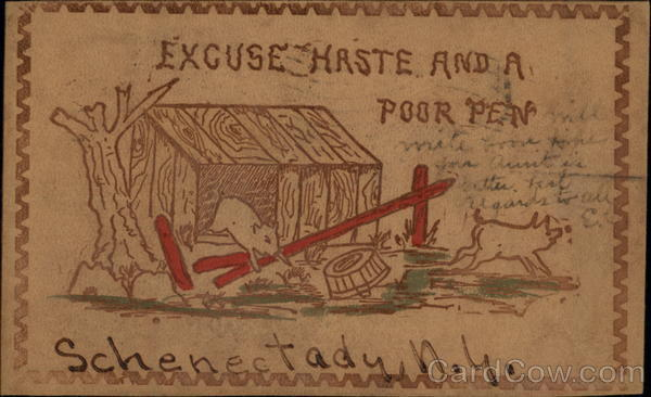 Excuse Haste And A Poor Pen Schenectady New York Leather