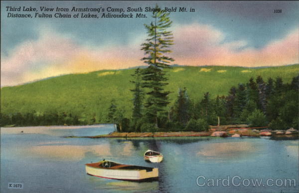 Fulton Chain of Lakes - Old Forge Adirondack Mountains New York
