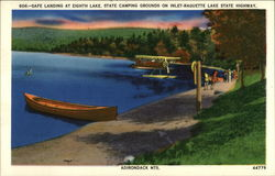 Safe Landing At Eighth Lake. State Camping Grounds On Inlet