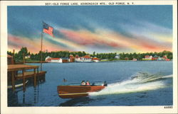 Old Forge Lake Postcard
