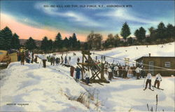 Ski Hill and Rope Tow Postcard