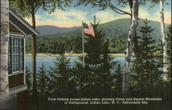 Indian Lake and Porter and Squaw Mountains Postcard