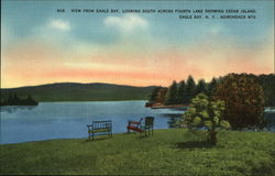 View from Eagle Bay Looking South Postcard