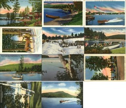 Large Wholesale Lot of 1200 Vintage Adirondacks Postcards 1940's Linen Postcard