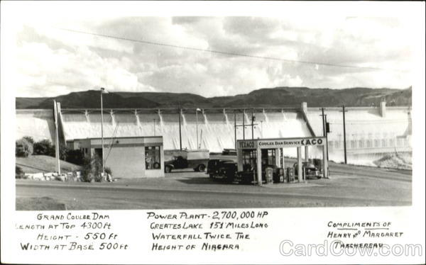Texaco Service Station, Grand Coulee Dam Washington