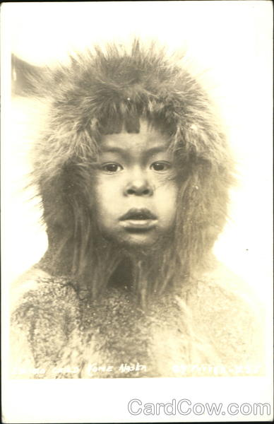 Eskimo Child Nome Alaska Native Americana