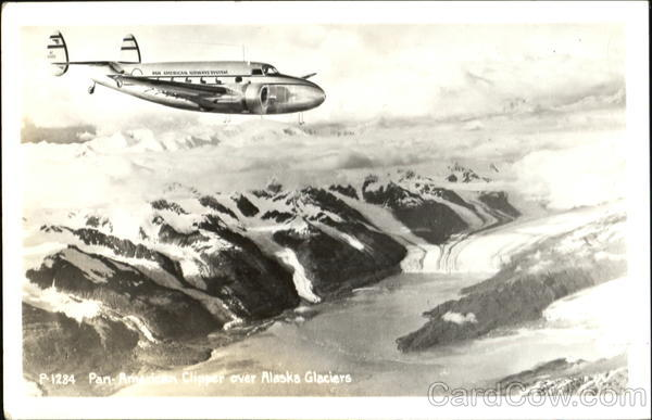 Pan American Clipper Over Alaska Glaciers Aircraft