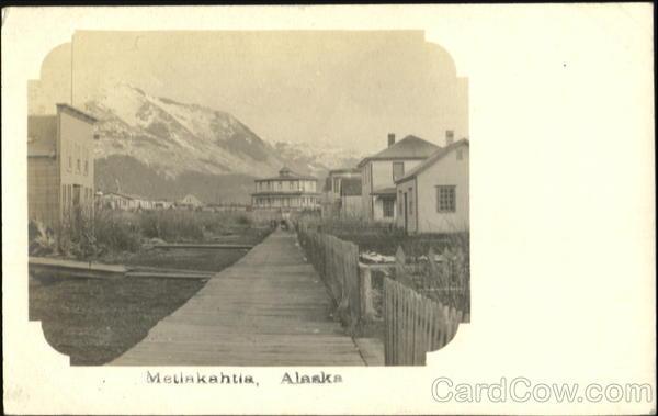 Street Scene Metlakatla Alaska