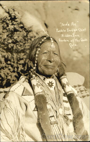 Seda Pee Pueblo Chief Native Americana