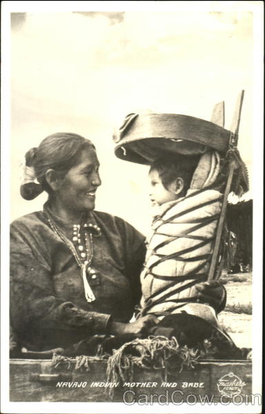 Navajo Indian Mother And Babe Native Americana