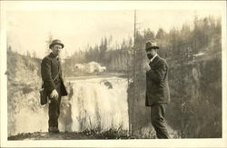 1916 Two Men - Staged Outdoor Photo