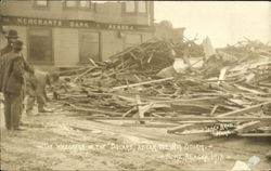 The Wreckage In The Square After The Big Storm 1913