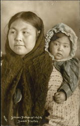 Eskimo Mother And Child Tinted