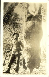 Hunter with Kodiak Bear