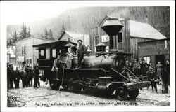 First Locomotive In Alaska 1898