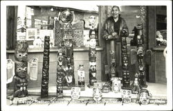 Casper Mather Tsimpean Totem Carver For The Trading Past