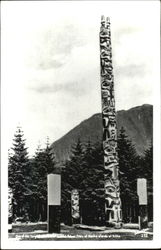 One Of The Large Totem Poles Of Alaska