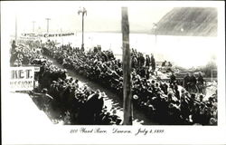 1899 200 Yard Race  Postcard