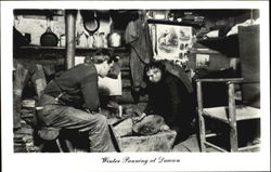 Winter Gold Panning Postcard