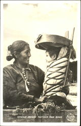 Navajo Indian Mother And Babe