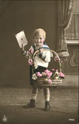 Tinted Boy with Basket