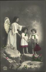 Angel with Children - Tinted