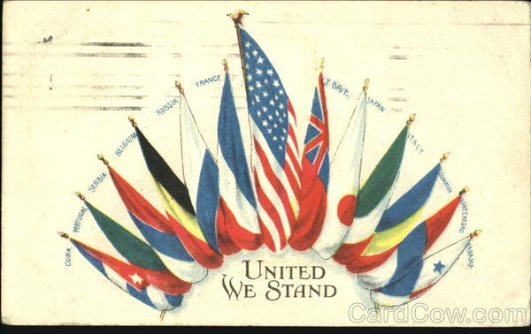 United We Stand Patriotic Flags