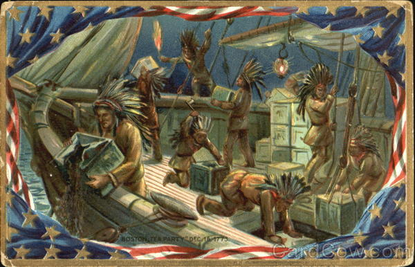 Boston Tea Party Dec. 16 1773 Patriotic Native Americana