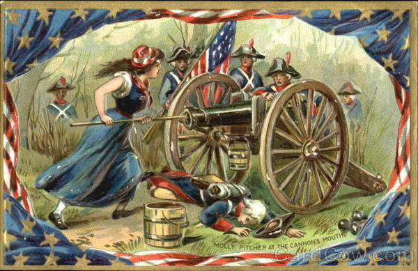 Molly Pitcher At The Cannon's Mouth Patriotic