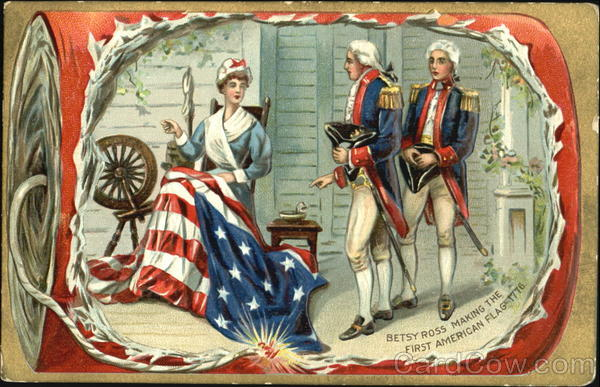Betsy Ross Making The First American Flag Patriotic
