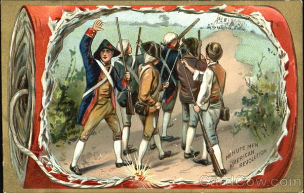 Minute Men American Revolution Patriotic